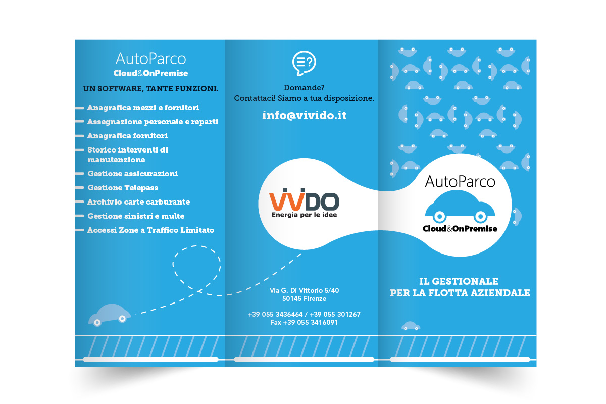 Tri-fold Brochure Layout Design for Autoparco