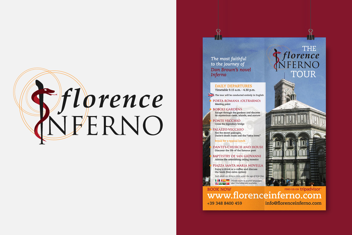 Florence Inferno's logo and promotional poster
