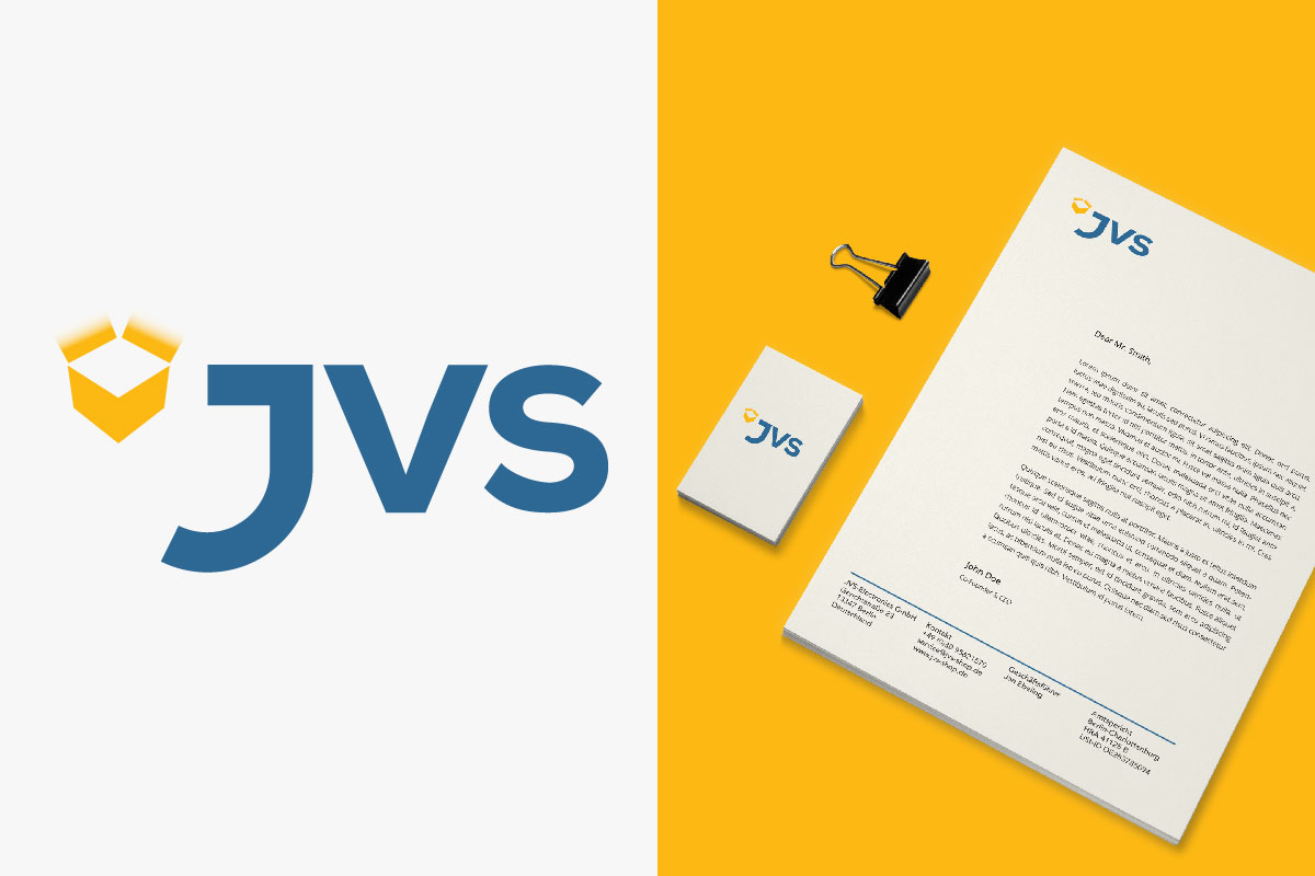 JVS Electronics Berlin · Logo Design and Corporate Identity