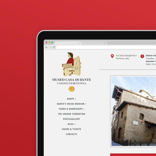Dante's House Museum · Webdesign