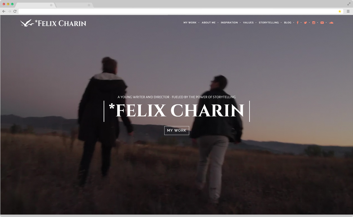 Saga of Your Life by Felix Charin · One Page Website Design