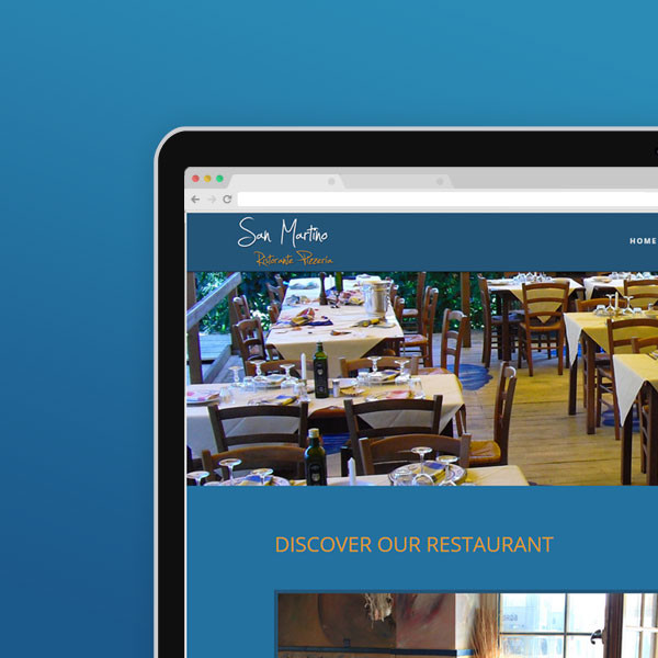 Restaurant San Martino · Webdesign