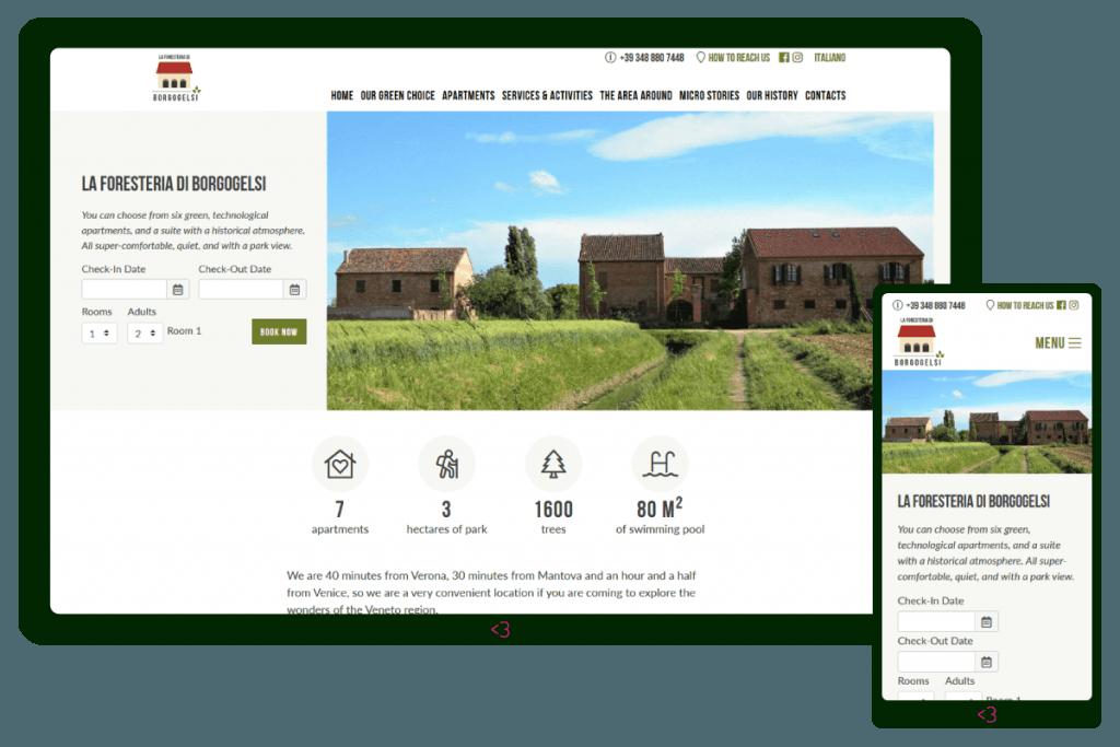 Screenshot dal sito web di Borgogelsi