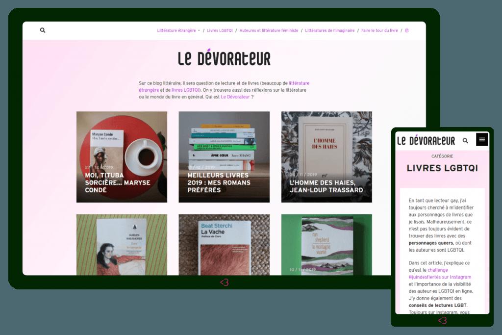 Screenshot dal sito web Le Devorateur